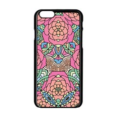Petals, Carnival, Bold Flower Design Apple Iphone 6/6s Black Enamel Case by Zandiepants