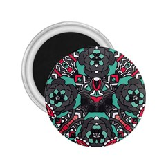 Petals In Dark & Pink, Bold Flower Design 2 25  Magnet by Zandiepants