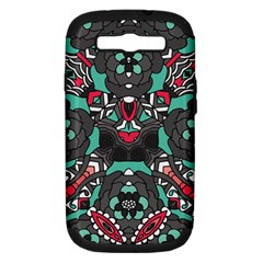 Petals In Dark & Pink, Bold Flower Design Samsung Galaxy S Iii Hardshell Case (pc+silicone) by Zandiepants