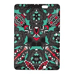 Petals In Dark & Pink, Bold Flower Design Kindle Fire Hdx 8 9  Hardshell Case by Zandiepants
