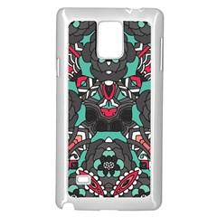 Petals In Dark & Pink, Bold Flower Design Samsung Galaxy Note 4 Case (white) by Zandiepants