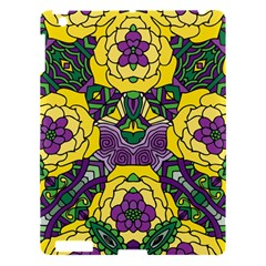 Petals In Mardi Gras Colors, Bold Floral Design Apple Ipad 3/4 Hardshell Case by Zandiepants
