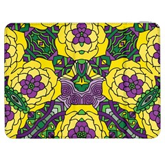 Petals In Mardi Gras Colors, Bold Floral Design Samsung Galaxy Tab 7  P1000 Flip Case by Zandiepants