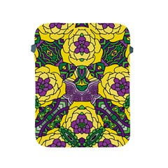 Petals In Mardi Gras Colors, Bold Floral Design Apple Ipad 2/3/4 Protective Soft Case by Zandiepants