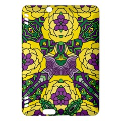 Petals In Mardi Gras Colors, Bold Floral Design Kindle Fire Hdx Hardshell Case by Zandiepants