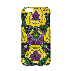 Petals In Mardi Gras Colors, Bold Floral Design Apple Iphone 6/6s Hardshell Case by Zandiepants