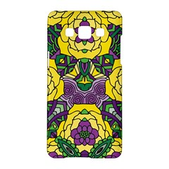 Petals In Mardi Gras Colors, Bold Floral Design Samsung Galaxy A5 Hardshell Case  by Zandiepants