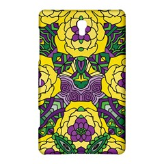 Petals In Mardi Gras Colors, Bold Floral Design Samsung Galaxy Tab S (8 4 ) Hardshell Case  by Zandiepants