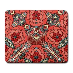 Petals In Pale Rose, Bold Flower Design Large Mousepad by Zandiepants