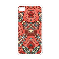 Petals In Pale Rose, Bold Flower Design Apple Iphone 4 Case (white) by Zandiepants