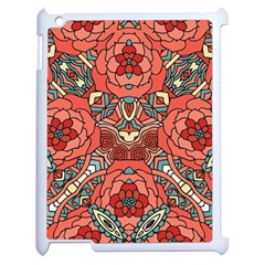 Petals In Pale Rose, Bold Flower Design Apple Ipad 2 Case (white) by Zandiepants