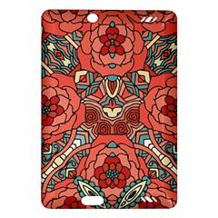 Petals In Pale Rose, Bold Flower Design Amazon Kindle Fire Hd (2013) Hardshell Case by Zandiepants