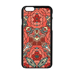Petals In Pale Rose, Bold Flower Design Apple Iphone 6/6s Black Enamel Case by Zandiepants