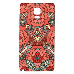 Petals In Pale Rose, Bold Flower Design Samsung Note 4 Hardshell Back Case by Zandiepants