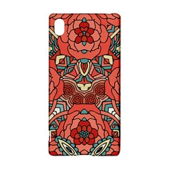 Petals In Pale Rose, Bold Flower Design Sony Xperia Z3+ Hardshell Case by Zandiepants