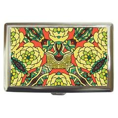 Petals, Retro Yellow, Bold Flower Design Cigarette Money Case by Zandiepants