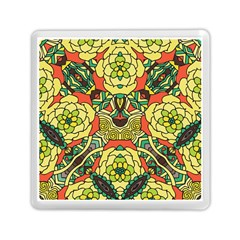 Petals, Retro Yellow, Bold Flower Design Memory Card Reader (square) by Zandiepants