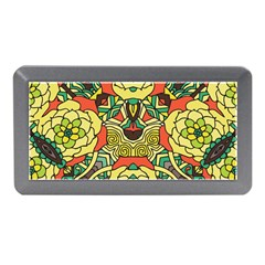Petals, Retro Yellow, Bold Flower Design Memory Card Reader (mini) by Zandiepants