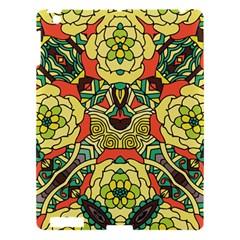 Petals, Retro Yellow, Bold Flower Design Apple Ipad 3/4 Hardshell Case by Zandiepants