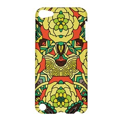 Petals, Retro Yellow, Bold Flower Design Apple Ipod Touch 5 Hardshell Case by Zandiepants