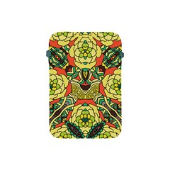 Petals, Retro Yellow, Bold Flower Design Apple Ipad Mini Protective Soft Case by Zandiepants