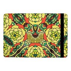 Petals, Retro Yellow, Bold Flower Design Samsung Galaxy Tab Pro 10 1  Flip Case by Zandiepants