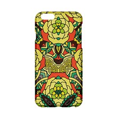 Petals, Retro Yellow, Bold Flower Design Apple Iphone 6/6s Hardshell Case by Zandiepants
