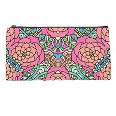 Petals, Carnival, Bold Flower Design Pencil Case by Zandiepants