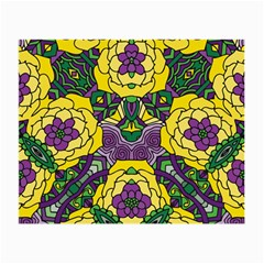 Petals In Mardi Gras Colors, Bold Floral Design Small Glasses Cloth (2 Sides) by Zandiepants