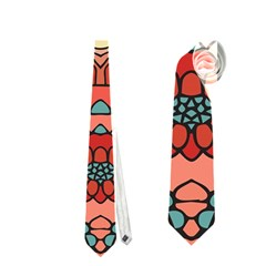 Petals In Pale Rose, Bold Flower Design Necktie (two Side)