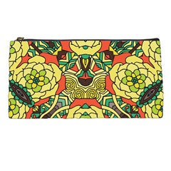Petals, Retro Yellow, Bold Flower Design Pencil Case by Zandiepants