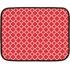 Poppy Red Quatrefoil Pattern Double Sided Fleece Blanket (mini) by Zandiepants