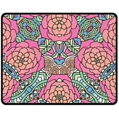 Petals, Carnival, Bold Flower Design Fleece Blanket (medium) by Zandiepants