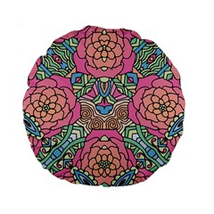 Petals, Carnival, Bold Flower Design Standard 15  Premium Round Cushion  by Zandiepants