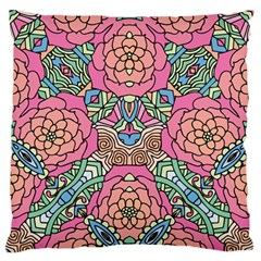 Petals, Carnival, Bold Flower Design Large Flano Cushion Case (two Sides) by Zandiepants