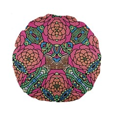 Petals, Carnival, Bold Flower Design Standard 15  Premium Flano Round Cushion  by Zandiepants