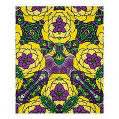 Petals In Mardi Gras Colors, Bold Floral Design Shower Curtain 60  X 72  (medium) by Zandiepants