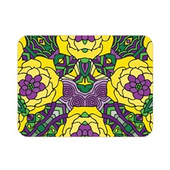 Petals In Mardi Gras Colors, Bold Floral Design Double Sided Flano Blanket (mini) by Zandiepants