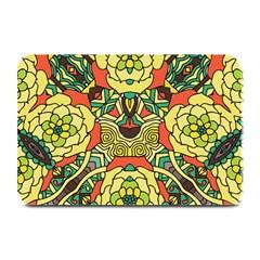 Petals, Retro Yellow, Bold Flower Design Plate Mat by Zandiepants