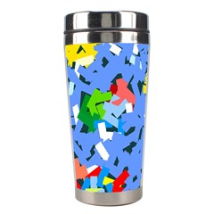 Rectangles Mix                          Stainless Steel Travel Tumbler by LalyLauraFLM