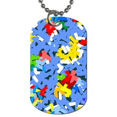 Rectangles Mix                          			dog Tag (one Side) by LalyLauraFLM
