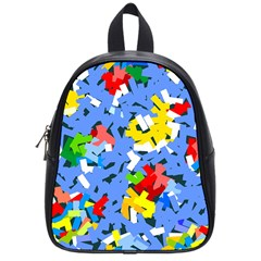 Rectangles Mix                          school Bag (small) by LalyLauraFLM