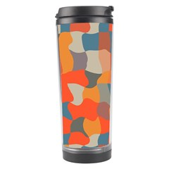 Retro Colors Distorted Shapes                           Travel Tumbler by LalyLauraFLM