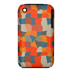 Retro Colors Distorted Shapes                           			apple Iphone 3g/3gs Hardshell Case (pc+silicone) by LalyLauraFLM