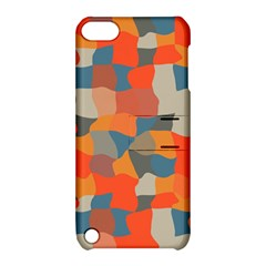 Retro Colors Distorted Shapes                           			apple Ipod Touch 5 Hardshell Case With Stand