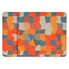 Retro Colors Distorted Shapes                           			samsung Galaxy Tab 8 9  P7300 Flip Case by LalyLauraFLM