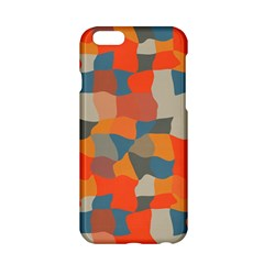 Retro Colors Distorted Shapes                           apple Iphone 6/6s Hardshell Case by LalyLauraFLM