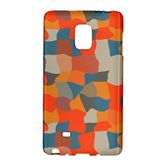 Retro colors distorted shapes                           			Samsung Galaxy Note Edge Hardshell Case by LalyLauraFLM