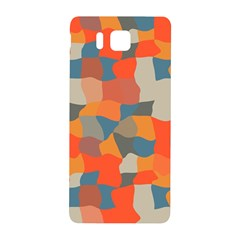 Retro Colors Distorted Shapes                           			samsung Galaxy Alpha Hardshell Back Case by LalyLauraFLM
