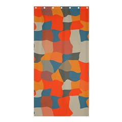 Retro Colors Distorted Shapes                           shower Curtain 36  X 72  by LalyLauraFLM